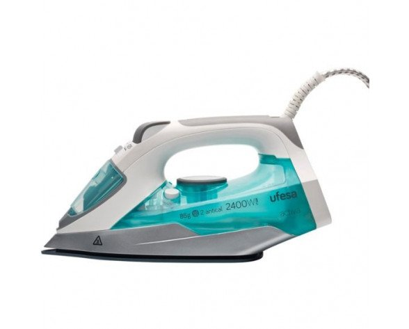 Ufesa PV1100 Steam iron Ceramic soleplate 2400W Azul, Gris, Color blanco plancha
