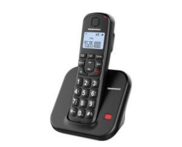 Teléfono inalámbrico Dect Daewoo DTD-7200 Negro
