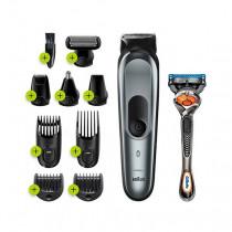 Braun Multigroomer MGK7221 depiladora para la barba Mojado y seco Negro, Gris