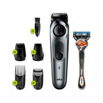 Braun BT7220 depiladora para la barba Negro, Plata