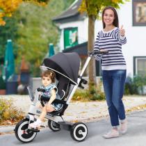 Triciclo Homcom bebe 4 en 1 Trolley Trik