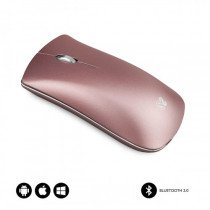 SUBBLIM RATON OPTICO WIRELESS BLUETOOTH BT MOUSE ELEGANT GOLD ROSE