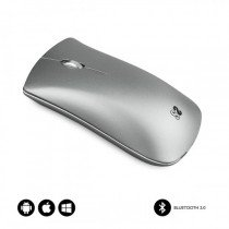 SUBBLIM RATON OPTICO WIRELESS BLUETOOTH BT MOUSE ELEGANT SILVER
