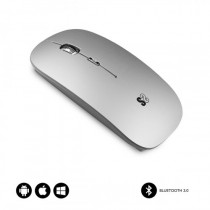 SUBBLIM RATON OPTICO WIRELESS BLUETOOTH BT MOUSE FLAT SILVER