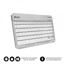 SUBBLIM Teclado Bluetooth Smart BT Keyboard Silver