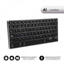 SUBBLIM Teclado Wireless Bluetooth Aluminio Advance Compact Grey