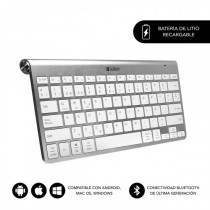 SUBBLIM Teclado Wireless Bluetooth Pure Compact Silver
