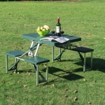 Mesa de Camping Outsunny Plegable con 4