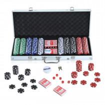 Maletin HOMCOM de Poker Alumnio Colorido