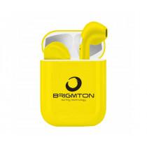 Brigmton BML-18-Y auricular y casco Auriculares Dentro de oído Amarillo
