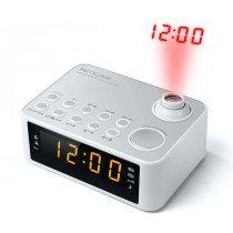 Muse M-178 PW radio Reloj Digital Plata, Blanco