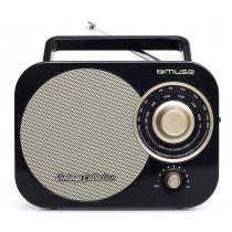 Muse M-055 RB radio Portátil Analógica Negro, Oro