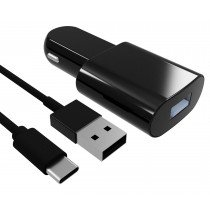 CARGADOR MECHERO CONTACT 2.1A USB NEGRO