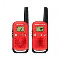 Motorola TALKABOUT T42 two-way radios 16 canales Negro, Rojo