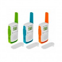 Motorola TALKABOUT T42 two-way radios 16 canales Azul, Verde, Naranja, Blanco