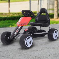 Coche de Pedales HOMCOM Go Kart con Asie
