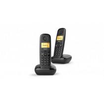 Gigaset A270 Duo Teléfono DECT Negro Identificador de llamadas