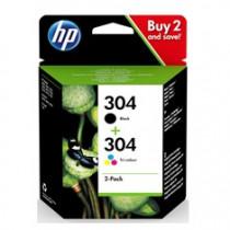 HP Pachet cu 2 cartuşe de cerneală originale 304 Negru/Tricolor Original Negro, Cian, Magenta, Amarillo 2 pieza(s)