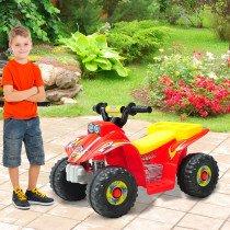 Quad Homcom Infantil de bateria Rojo-ama