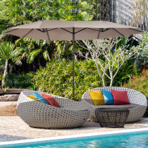 Sombrilla Outsunny Doble Parasol Grande