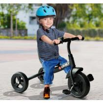 Triciclo Homcom + 18 meses negro