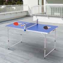 Mesa Outsunny de Ping-Pong Plegable Altu