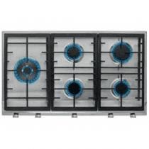 Teka EX 90.1 5G AI AL DR CI LEFT Nat Negro, Acero inoxidable Integrado Encimera de gas 5 zona(s)