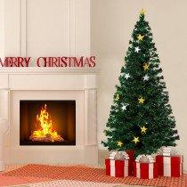 Arbol de Navidad HOMCOM verde 80x180cm