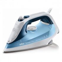 Braun TexStyle 7 Pro Plancha vapor-seco Suela de Eloxal Azul, Blanco 2600 W