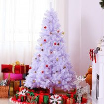 Arbol de Navidad HOMCOM blanco 105x180