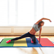 Homcom B1-006 esterilla de yoga Espuma de memoria Azul, Verde, Rojo, Amarillo