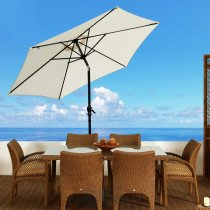 Sombrilla Outsunny Parasol Reclinable co