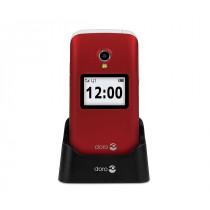 """Doro 2424 6,1 cm (2.4"""") 92 g Rojo Teléfono para personas mayores"""