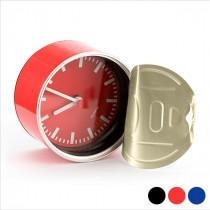 Reloj de Sobremesa con Iman (Ø 8,8 cm) NEGRO