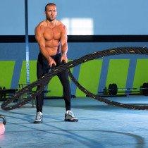 Homcom A93-019 cuerda y cinta de ejercicio Cuerda Battle rope