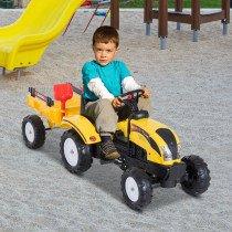Tractor Homcom Pedal con Remolque para N