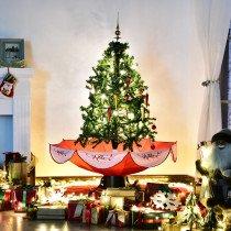 Arbol de Navidad HOMCOM nieve 95x140cm