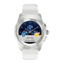 "MyKronoz ZeTime Regular Original TFT 3,1 cm (1.22"") 44 mm Plata, Blanco"