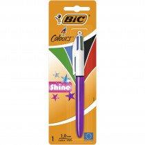 BIC Shine Negro, Azul, Verde, Rojo Multifunction ballpoint pen Medio 1 pieza(s)