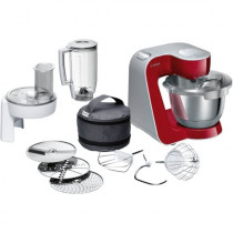 Bosch MUM58720 robot de cocina 3,9 L Gris, Rojo, Acero inoxidable 1000 W