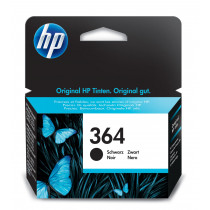HP 364 Black Original Ink Cartridge cartucho de tinta 1 pieza(s) Rendimiento estándar Negro