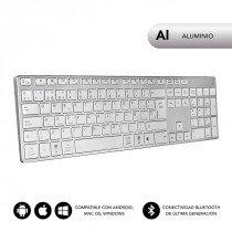SUBBLIM Teclado Wireless Bluetooth Aluminio Advance Extended Silver