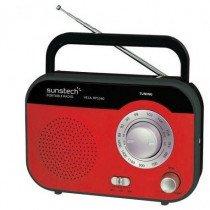 Sunstech RPS560 radio Portátil Analógica Rojo