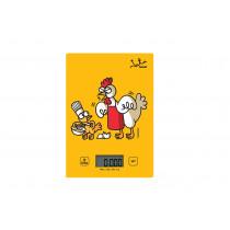 JATA Mod. 731K Amarillo Rectángulo Báscula electrónica de cocina