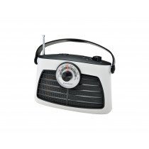 Sunstech TRANSISTOR AM/FM 1W WHITE radio Portátil Analógica Negro, Blanco