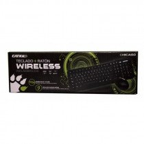 Catkil Wireless pack Chicago RF inalámbrico QWERTY Español Negro