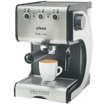 Ufesa CE7141 Máquina espresso 1.5L 2tazas Negro, Plata cafetera eléctrica
