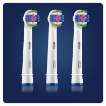 Oral-B 3D White 80338474 cepillo de cabello 3 pieza(s) Blanco