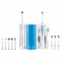 Oral-B Smart 5000 + Oxyjet Adulto Cepillo dental oscilante Azul, Blanco
