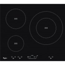 Whirlpool ACM 332/BA hobs Negro Built-in (placement) 60 cm Con placa de inducción 3 zona(s)